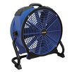 "XPOWER Professional 16"" Floor  Fan with Built-In Power Outlets and 3-Hour Timer"