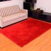 DonnieAnn Company Express Red Shag Area Rug