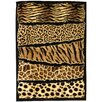 DonnieAnn Company Skinz 71 Mixed Brown Animal Skin Prints Horizontal Patchwork Area Rug