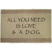 Park B Smith Ltd PB Paws & Co. Need Love and Dog Cotton Pet Mat