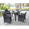 DHI Aptos 5 Piece Dining Set with Cushions