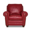 Luke Leather Weston Italian Leather Chair and Ottoman
