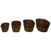 DeVaultEnterprises 4 Piece Oval Pot Planter Set