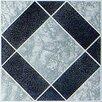 "Home Dynamix 12"" x 12"" 45 Piece Luxury Vinyl Tile in Black / Grey Diamond"