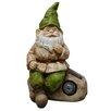 Alpine Gnome Statue with Solar Rock