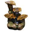 Alpine Polyresin Tiered Leaf Fountain