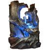 Alpine Fiberglass Tree Trunks Waterfall Fountain with LED Light