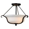 Wildon Home ® Basket 2 Light Semi Flush Mount