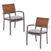 Wildon Home ® Maitland Dining Arm Chair (Set of 2)