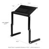 Wildon Home ® Vented Laptop Table / Portable Bed Tray Book Stand