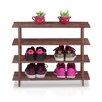 Wildon Home ® Pine Solid Wood 4-Tier Shoe Rack