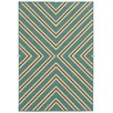 Wildon Home ® Cannes Indoor/Outdoor Geometric Blue/Ivory Area Rug