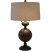 "Wildon Home ® Bronzed Steel 30.5"" H Table Lamp with Drum Shade"
