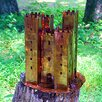 Harvey Gallery Castle Sculpture Decorative Bird Feeder