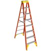 Werner 8 ft Fiberglass Step Ladder with 300 lb. Load Capacity