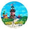 "Lexington Studios Travel and Leisure 18"" Light House Wall Clock"