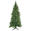 General Foam Plastics 6.5' Pre-Lit Corner Tree with Clear Lights