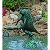 Brass Baron Sea Life Manatees Fountain