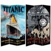 "Oriental Furniture 70.88"" x 47.25"" Titanic / Penn Station 3 Panel Room Divider"