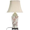 "Oriental Furniture 26"" H Table Lamp with Bell Shade"