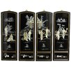 Oriental Furniture 4 Piece Mother of Pearl Ladies Wall Décor Set