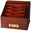 Oriental Furniture Rosewood Stationery Stand in Shiny Lacquer