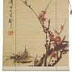 Oriental Furniture Sakura Blossom Bamboo Roller Blind