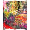 """Oriental Furniture 70.88"""" x 63"""" Double Sided Works of Monet 4 Panel Room Divider"""