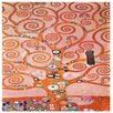 Oriental Furniture 'Tree of Life' by Gustav Klimt Painting Print on Wrapped Canvas