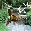 Blue Handworks Aviator Spike Whirligig Pinwheel