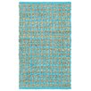 LR Resources Accent Blue Area Rug
