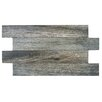 """EliteTile Moscow 3.06"""" x 20.5"""" Porcelain Mosaic Tile in Gray"""