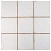 "EliteTile Faventie Manises 13"" x 13"" Ceramic Field Tile in White"
