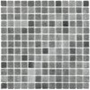 "EliteTile Colgadilla Square 0.88"" x 0.88"" Glass Mosaic Tile in Gris"