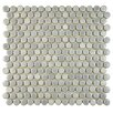 "EliteTile Penny 0.75"" x 0.75"" Porcelain Mosaic Tile in Glossy Gray"
