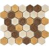 "EliteTile Heritage 1.75"" x 1.75"" Ceramic Mosaic Tile in Goldstone"