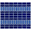 EliteTile Emilia Random Sized Porcelain Mosaic Tile in Cobalt Blue