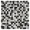 "EliteTile Grizelda Chiseled 0.6"" x 0.6"" Natural Stone Mosaic Tile in Charcoal"