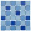 "EliteTile Pool 2"" x 2"" Porcelain Mosaic Tile in Marine"