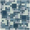 EliteTile Sierra Random Sized Glass and Natural Stone Mosaic Tile in Versailles Gulf