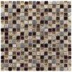 "EliteTile Sierra 0.625"" x 0.625"" Glass, Natural Stone and Metal Mosaic Tile in Aurora"
