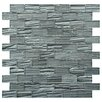 "EliteTile Timber 1"" W x 2"" L Glass Mosaic Tile in Blue"