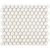 "EliteTile Retro 0.875"" x 0.875"" Porcelain Mosaic Tile in Matte White"