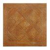 """EliteTile Arno 17.75"""" x 17.75"""" Ceramic Wood Tile in Roble"""