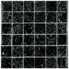 "EliteTile Entira 11.75"" x 11.75"" Glass Mosaic Wall Tile in Black"