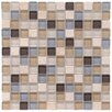 "EliteTile Sierra 0.875"" x 0.875"" Glass and Natural Stone Mosaic Tile in River"