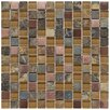 """EliteTile Abbey 0.875"""" x 0.875"""" Glass, Stone and Metal Mosaic Tile in Alloy Copper"""
