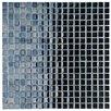 "EliteTile Sable 0.625"" x 0.625"" Glass Mosaic Tile in Black Mirror"