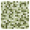 """EliteTile Sierra 0.625"""" x 0.625"""" Glass and Natural Stone Mosaic Tile in Emerald Isle"""