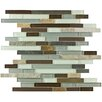 EliteTile Sierra Random Sized Glass and Natural Stone Mosaic Tile in Tundra